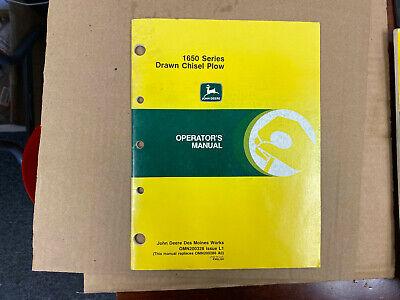 Oem John Deere Operators Manual 1650 Drawn Chisel Plow L1