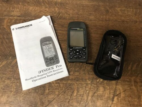 Lowrance iFINDER Pro Handheld GPS unit Slot For SD Card Map Chip Bundle Case EUC