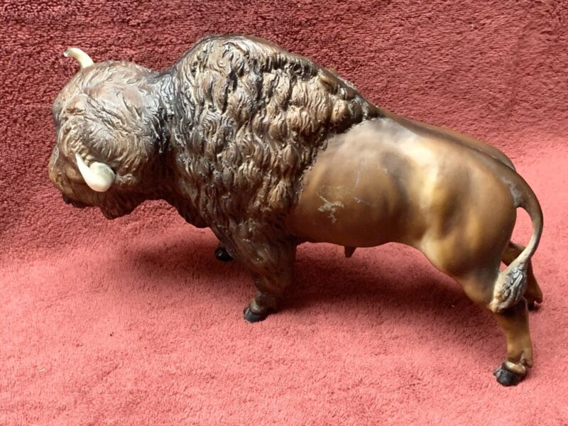 """Breyer Molding Co #76 Buffalo Bison 12"""" Long 1/6 Scale Vintage Nice Condition"""