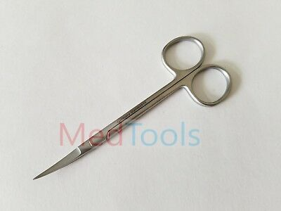 Micro Iris Scissors 4.5 Curved German Stainless Steel Ce Surgical