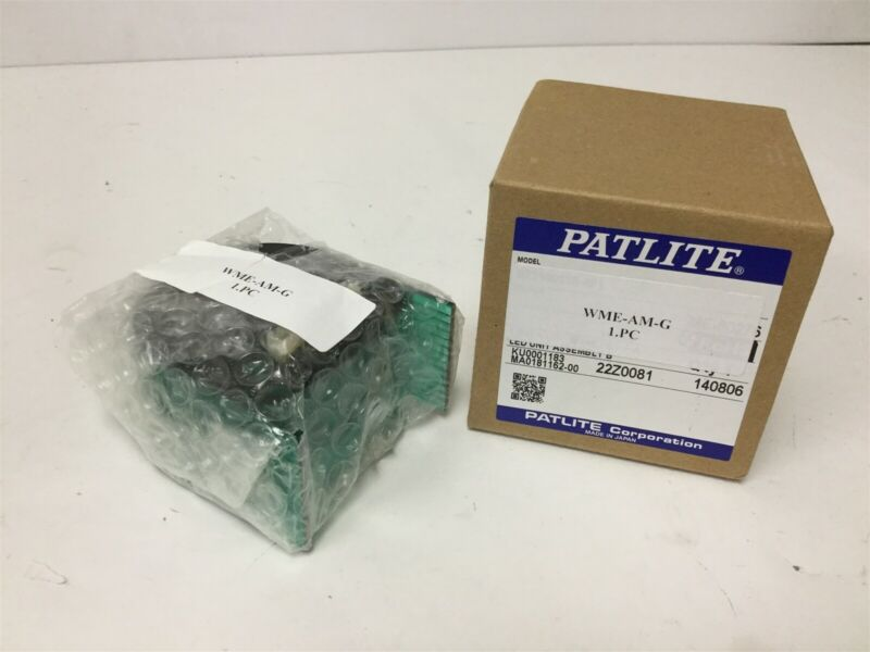 New Patlite WME-AM-G LED Light Module, Color: Green, For WME-A and WME-AFB