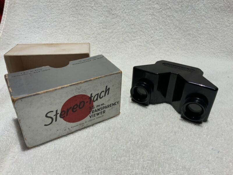 Stereo-tach 35mm Transparency Viewer Made in USA, in Original Box by Adisco