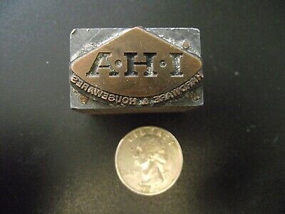 Ahi Hardware And Housewares Antique Wood Letter Press Print Block