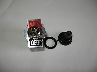 Heavy Duty Spst 2 Terminal Toggle Switch With Waterproof Boot 20a 125v Dr71