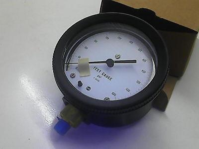 Feinmeß Manometer 600  PSI Prüf Druck Kessel Leitung Anlagen Industriemanometer