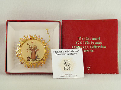 Danbury Mint / Hummel Gold Christmas Ornament LITTLE GABRIEL - Box (8)