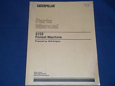 Cat Caterpillar 315b Forest Machine Parts Book Manual Sn 7rz1-up