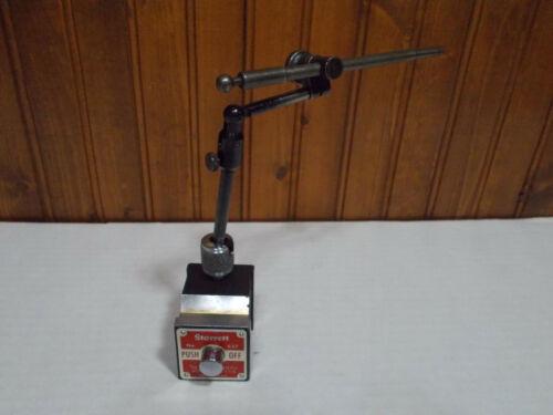 Starrett #657 Magnetic base dial indicator holder w fine adjust inspection machi