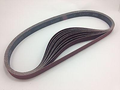 """1"""" x 42"""" Sanding Belts, 10 pack, 80 grit, AL Oxide - Made in USA"""
