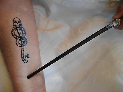 Harry Potter täuschend echtes 3D Tattoo Motiv Death Eater Todesser 100mmx32mm