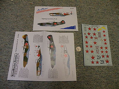 Aeromaster decals 1/48 48-152C Fighting Lavochkins Pt III F133