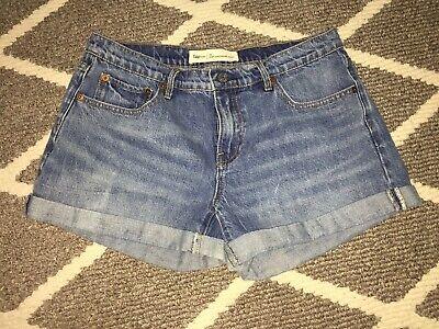 Gap Women's Best Girlfriend Short Blue Cuffed Jean Shorts Medium Wash Size
