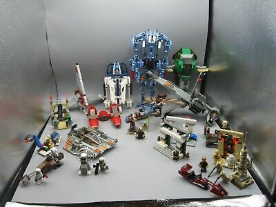 Lot of Vintage Lego Star Wars Miniatures Figure Packs Slave 1 B-WIng Snowspeeder