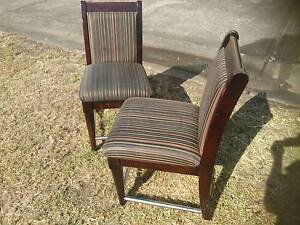 SET 6 TIMBER PADDED DINING CHAIRS*STRIPED FABRIC*STRONG Cartwright Liverpool Area Preview