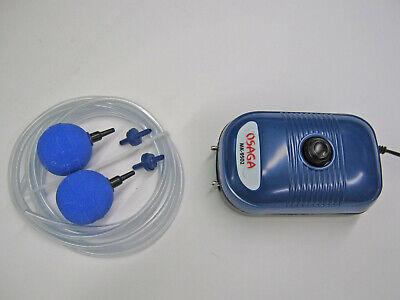 Durchlüfter Set 2 MK9502 Luftpumpe Membranpumpe Aquarium 5 Watt Regelbar Osaga
