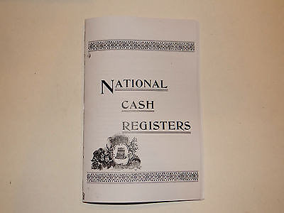 antique  national brass cash register book that shows a lot