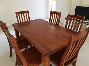 Dining table and six chairs Hornsby Hornsby Area Preview