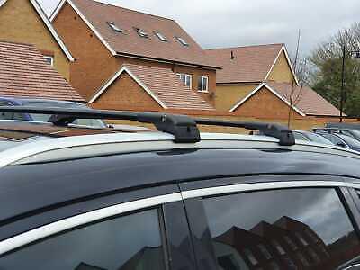 Modula Aluminium Aero Roof Bars Set Audi A4 B9 Saloon 16-19 Non Rail Lockable