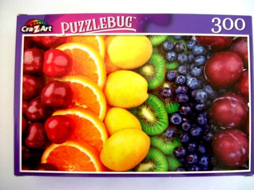 New Puzzlebug 300  Piece Jigsaw Puzzle (Colorful Fruit Rows)