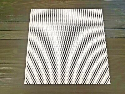 Online Metal Supply White Painted Aluminum Perforated Sheet 0.040 X 12 X 12