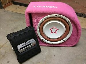 US Audio 10inch boxed subwoofer & kenwood amp Narre Warren South Casey Area Preview
