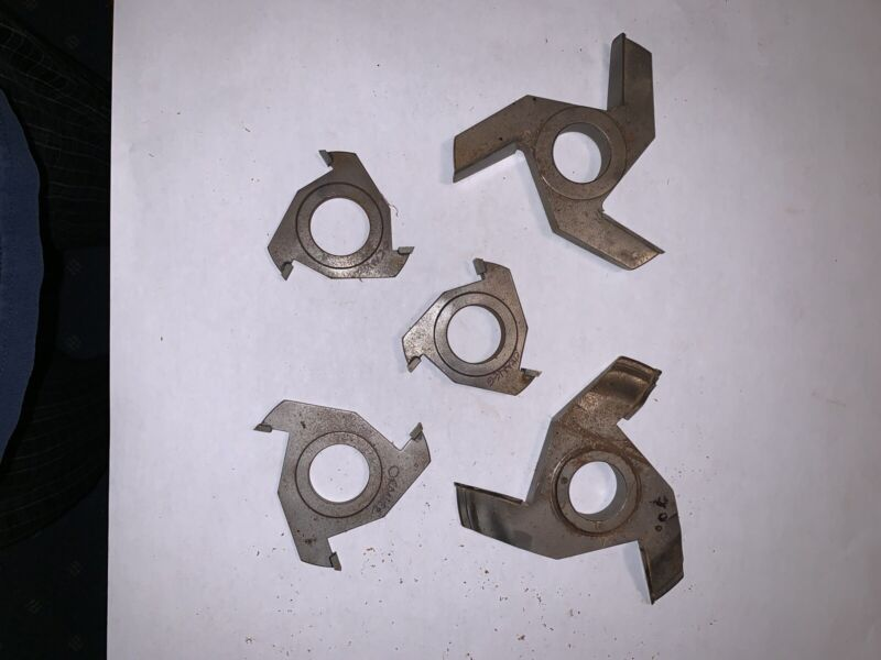 """Group of (5) Shaper Cutter Bits 1 1/4"""" bore, Unbranded"""