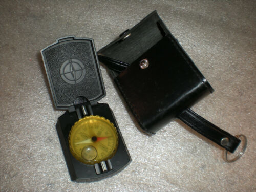 Vintage Compass With Case Made in West Germany