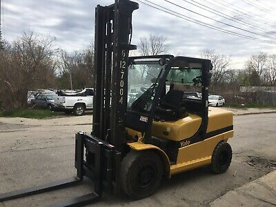 2013 Yale Diesel 12000 Lb Solid Pneumatic Forklift With Side Shift