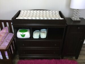 ESPRESSO Wood Baby Change / Changing Table