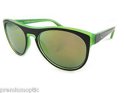 Lacoste Sunglasses Black Lime Phosphorescent / Grey Green Mirror L782S 002 ()