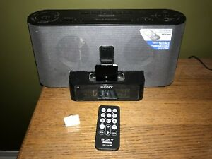 Sony iPhone dock speaker with radio, alarm and Bluetooth