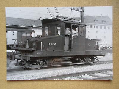 314 Foto SCHWEIZ- GFM E-Lok 11 um 1966