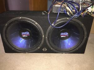 "Two 15"" Subwoofers/ Amp / Deck"