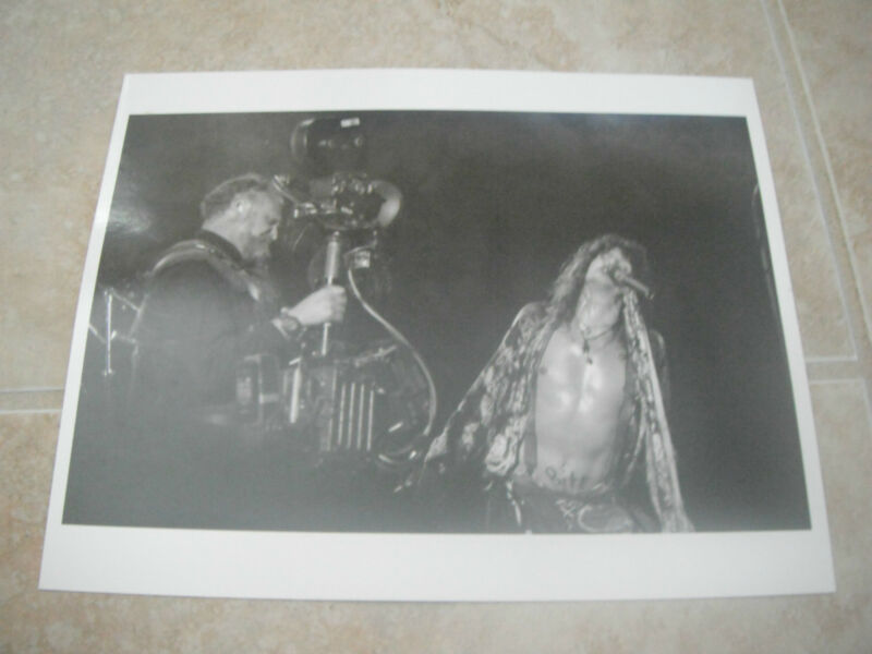Aerosmith Steven Tyler B&W 8x10 Promo Photo Picture Live Cameraman
