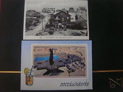 Lot de 2 cartes de OOSTDUINKERKE ( Koksijde ) Villa dans les dunes / Piscine