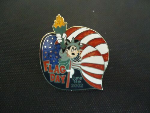 DISNEY WDW FLAG DAY 2002 MINNIE MOUSE PIN LE 3500