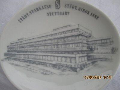 Keramikschale Neubau 1968 der Städt. Girokasse / Landesgirokasse Stuttgart -rar-