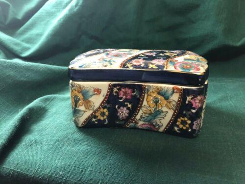 Vintage Oriental Trinket Box by Royal Satsuma of China