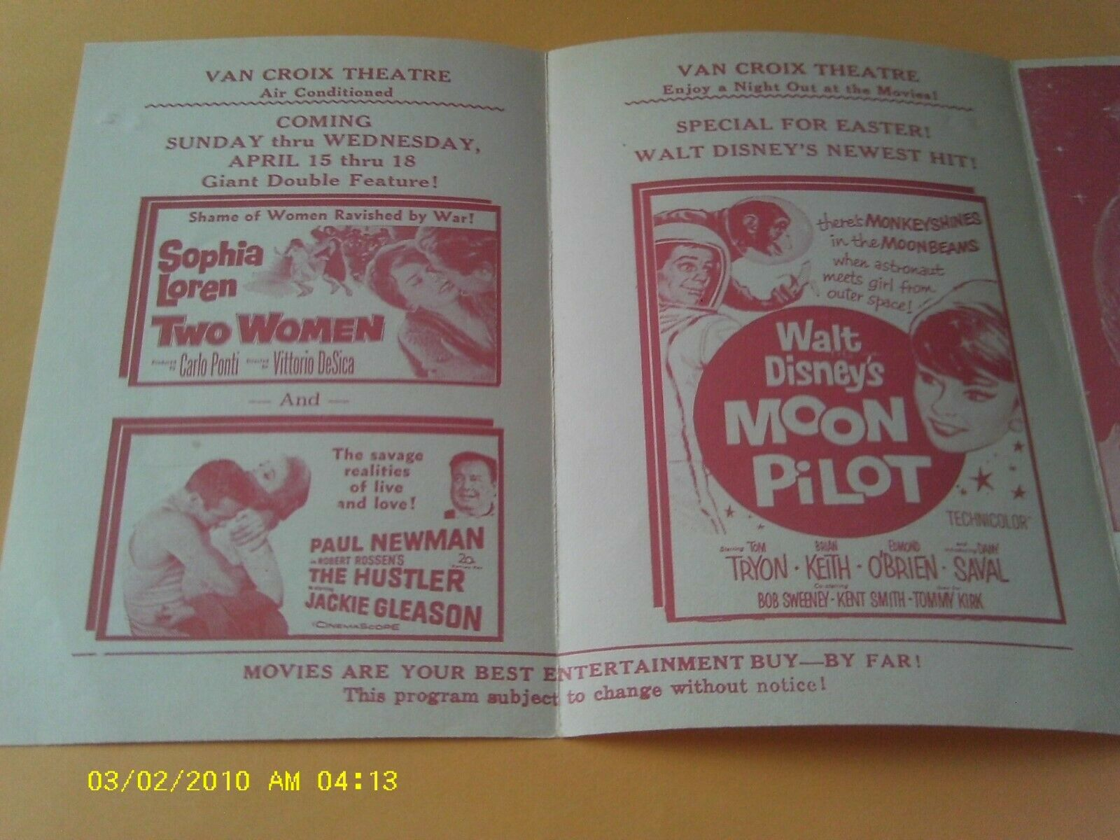 1959 VAN CROIX FLORIDA THEATRE FLYER MOVIE POSTER HEADLESS GHOST HOUSE OF FRIGHT