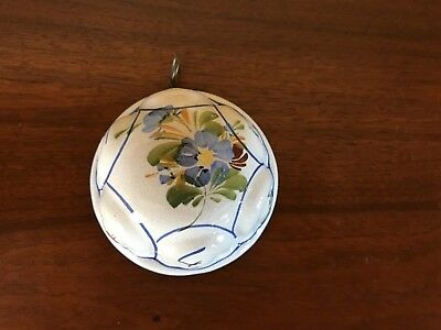 Vtg ABC BASSANO Ceramic Hand Painted Blue & White Wall Hanging Mold - ITALY