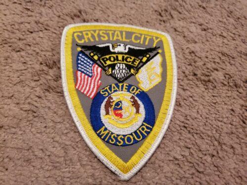 VINTAGE POLICE SHOULDER PATCH CRYSTAL CITY MISSOURI OBSOLETE