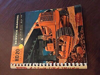 Allis Chalmers Allis-chalmers Hd Crawler Service Manual Hd 20 Bulldozer