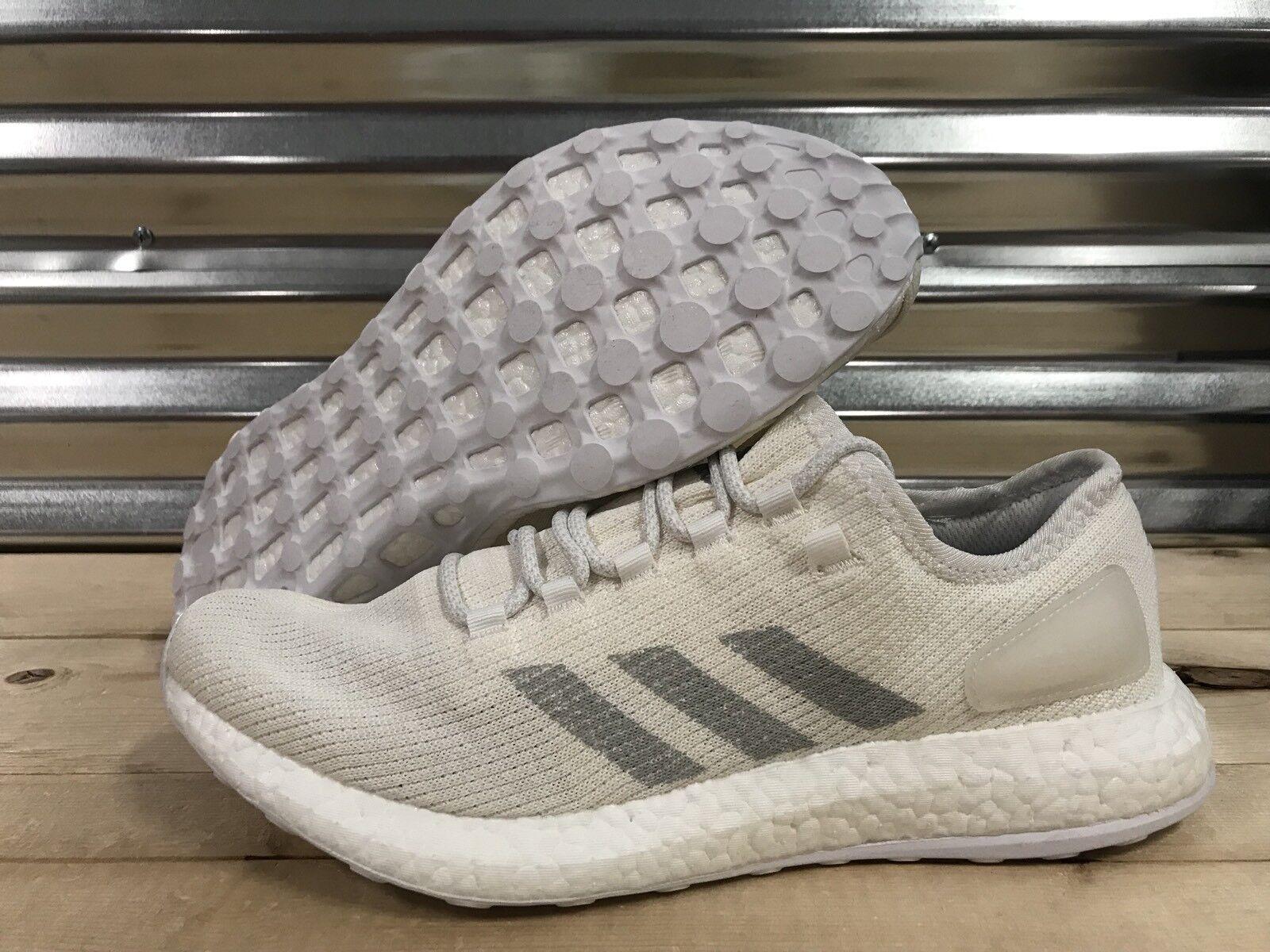 28a705d56bd04 Adidas PureBoost Boost Running Shoes White Gray Chalk SZ 11.5 ( BA9058 )