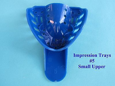 Disposable Dental Impression Trays Blue Perforated 5 Small Upper 12 Pcsbag