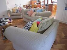 Cream Fabric Lounge Suite: 2 Seater Sofa + 2 Single Arm Chairs Prospect Prospect Area Preview