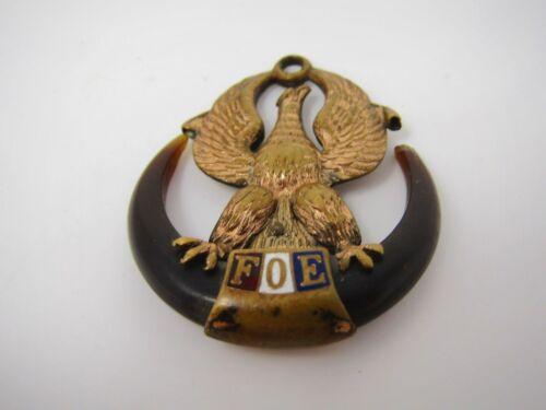 Antique Vintage FOE Fraternal Order of Eagles Charm Pendant Great Design