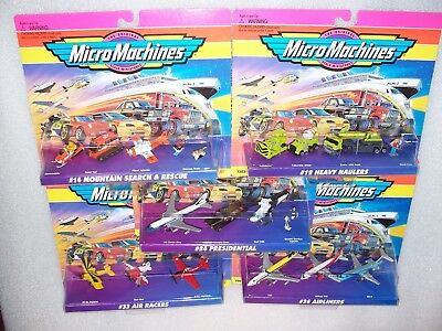 5 SETS MICRO MACHINES Miniature Vehicles NEW & SEALED Construction, Planes +++