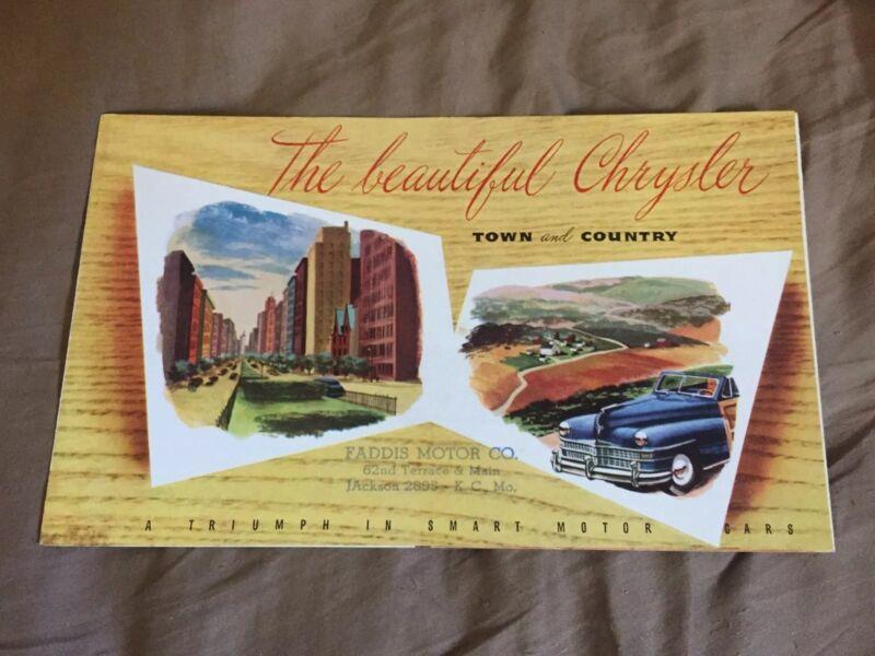 1946 1947 1948 Chrysler Town & Country Color Sales Brochure Prospekt