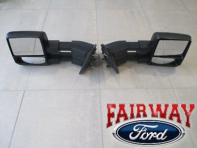 05 thru 14 F-150 OEM Genuine Ford  Manual Telescopic Trailer Tow Mirrors PAIR