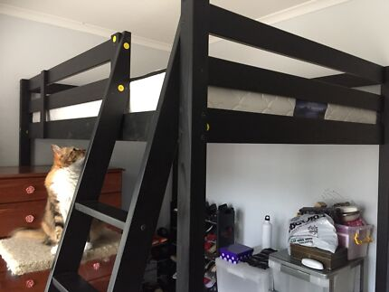 Double Loft bed and good comfortable mattress